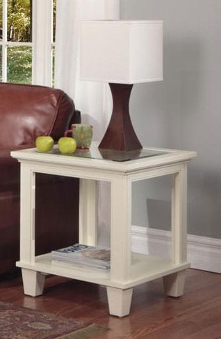 Georgetown End Table W Glass Top Berkshire Furniture