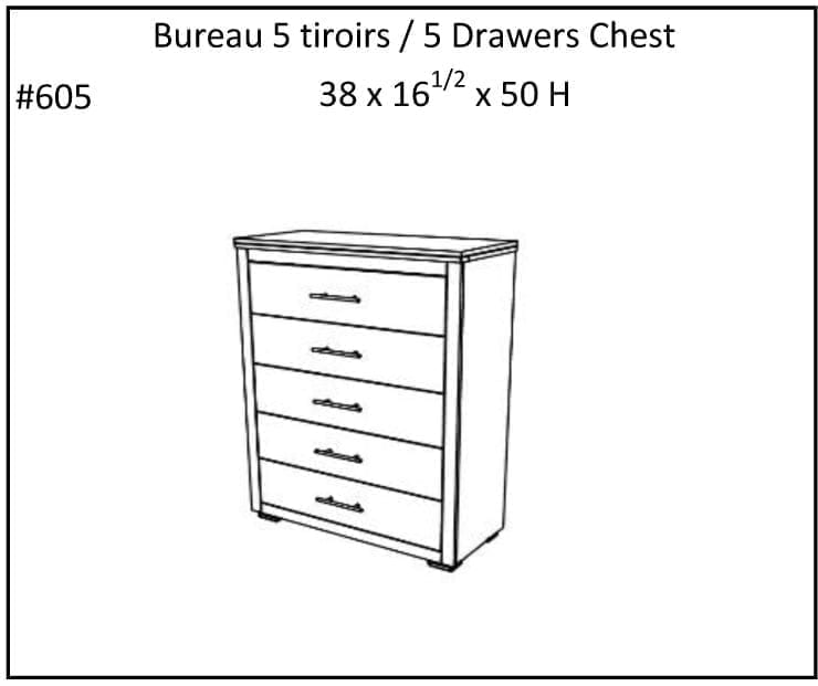 Oslow 5 Drawer Chest