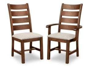 Handstone Dining Chairs (Wood Back)