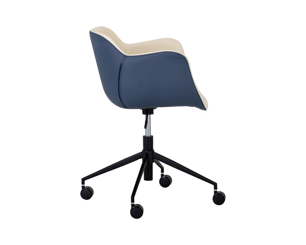 OWEN OFFICE CHAIR - DILLON CREAM / DILLON THUNDER