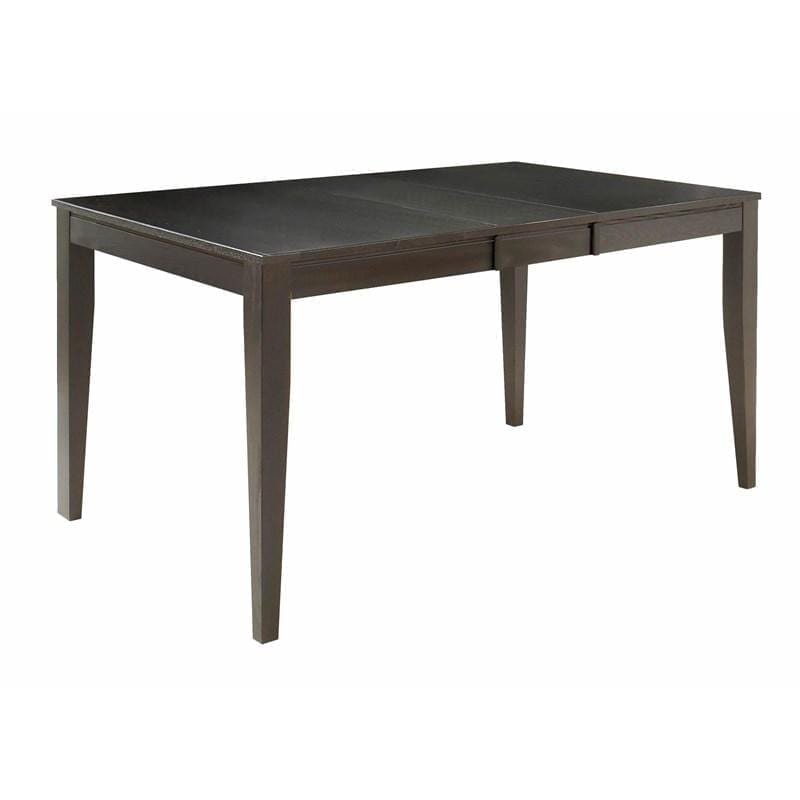 Amelie Dining Table (AR-1300 Rectangular Table – Square Edge, Grooved Skirt)