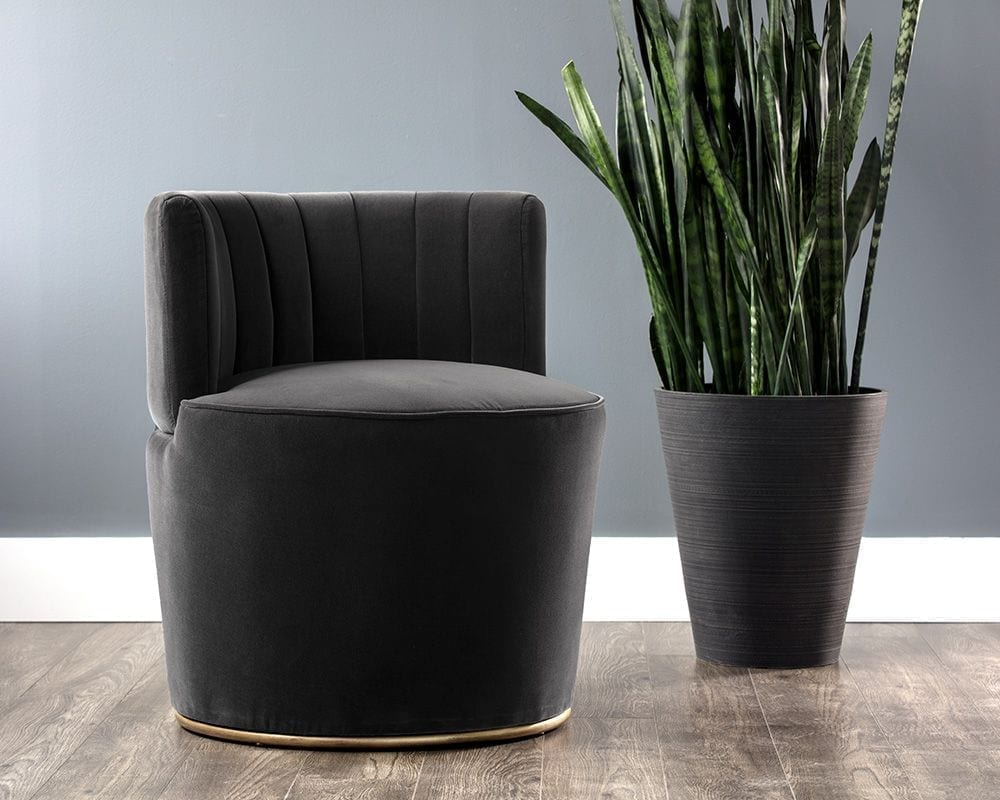 August Lounge Chair - Shadow Grey