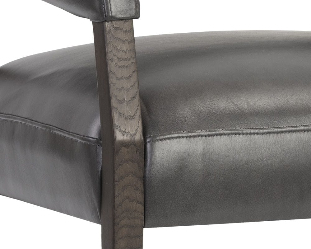 Carlyle Lounge Chair - Brentwood Charcoal Leather