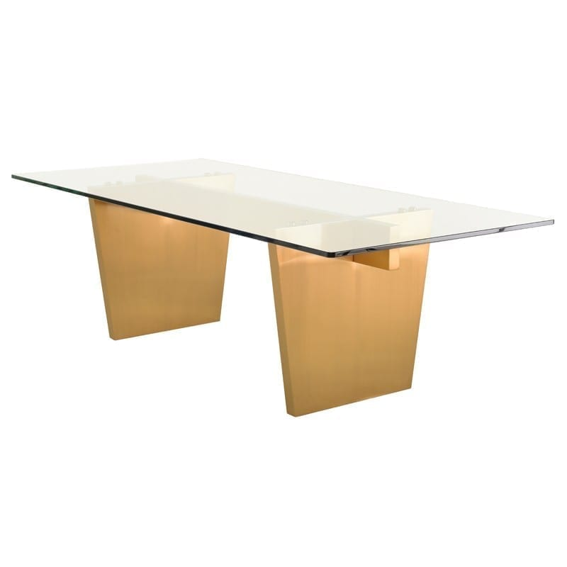 AIDEN DINING TABLE GOLD HGNA436