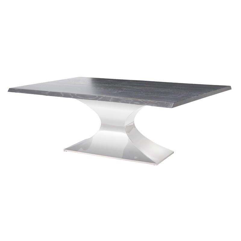 PRAETORIAN DINING TABLE OXIDIZED GREY HGSX231