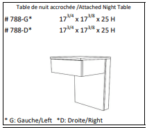 JLM Soho Attached Night Table Right