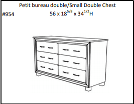 LUXEMBOURG 6 DRAWER Small Double Chest