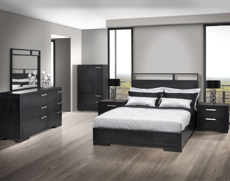 JLM Chicago Double Size Bed by meublesjlm